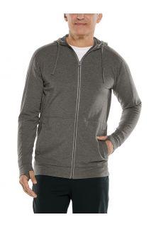 Coolibar---UV-Kapuzenshirt-mit-Reißverschluss-für-Herren---LumaLeo-Zip-Up---Antrazit