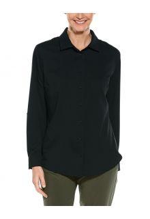 Coolibar---UV-Schutz-Bluse-für-Damen---Hepburn---Schwarz