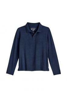 Coolibar---UV-Polo-Shirt-für-Kinder---Langärmlig---Coppitt---Navy