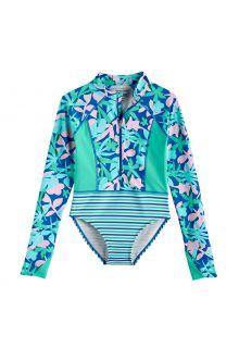 Coolibar---UV-Langarm-Badeanzug-für-Mädchen---Koko---Marlin-Blau