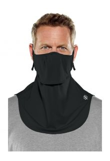 Coolibar---UV-schützende-Gesichtsmaske-für-Erwachsene---Vermilion---Schwarz