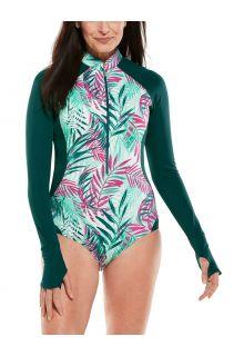 Coolibar---UV-Langärmliger-Badeanzug-für-Damen---Escalante---Summer-Palms