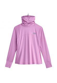 Coolibar---UV-Badeshirt-mit-Nackenschutz-für-Damen---Paros---Lavendel
