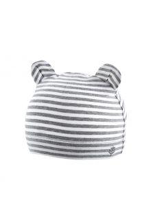 Coolibar---UV-schützende-Babymütze---Critter-Fauna---Grau/Weiß