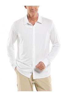 Coolibar---UV-Schutz-Hemd-für-Männer---Vita-Button-Down---Weiß