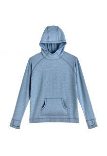 Coolibar---UV-Kapuzenpullover-für-Kinder---LumaLeo---Hellblau