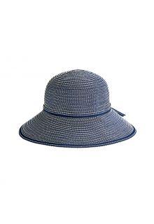 Coolibar---UV-Hut-mit-breiter-Krempe-für-Mädchen---Tea-Party-Ribbon---Navy/White