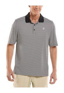 Coolibar---UV-Sport-Polo-für-Herren---Erodym-Golf---Schwarz/Weiß