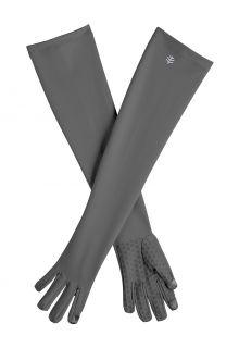 Coolibar---UV-schützende-Handschuhe-mit-langem-Arm-für-Erwachsene---Culebra---Anthrazit