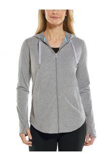 Coolibar---UV-Kapuzenshirt-mit-Reißverschluss-für-Damen---LumaLeo-Zip-Up---Grau