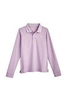 Coolibar---UV-Sport-Polo-für-Kinder---Longsleeve---Erodym-Golf---Lavendel