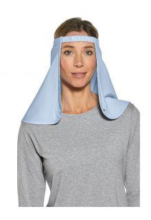 Coolibar---UV-Nackenschutz-für-Hüte-für-Erwachsene---Trailhead---Hellblau