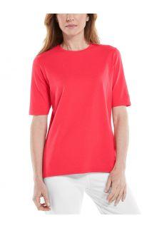 Coolibar---UV-Shirt-für-Damen---Morada-Everyday---Mohnrot