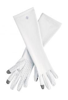 Coolibar---UV-schützende-Handschuhe-mit-Ärmel-für-Erwachsene---Bona---Weiß