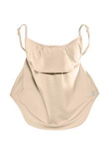 Coolibar---UV-schützende-Gesichtsmaske-für-Erwachsene---Vermilion---Beige