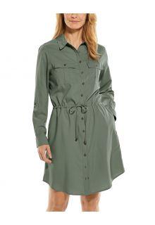 Coolibar---UV-Tunika-für-Damen---Napa-Travel-Dress---Olivegrün