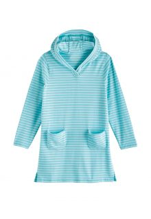 Coolibar---UV-Strandtunika-für-Mädchen---Catalina---Eisblau/Weiß