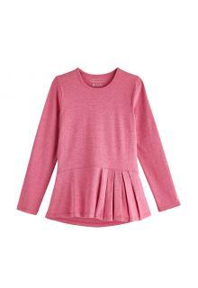 Coolibar---UV-Shirt-für-Mädchen---Langärmlig---Aphelion-Tee---Dahlienrosa