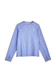 Coolibar---UV-Sportshirt-für-Kinder---Langärmlig---Agility---Aura-Blue