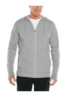 Coolibar---UV-Kapuzenshirt-mit-Reißverschluss-für-Herren---LumaLeo-Zip-Up---Grau
