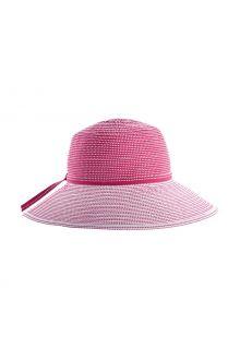 Coolibar---UV-Hut-mit-breiter-Krempe-für-Mädchen---Tea-Party-Ribbon---Pink/Weiß