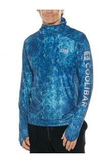 Coolibar---UV-Badeshirt-mit-Kapuze-für-Herren---Andros---Blau-Wasser