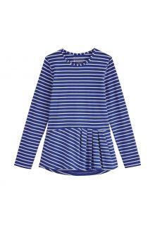 Coolibar---UV-Shirt-für-Mädchen---Langärmlig---Aphelion-Tee---Saphirblau/Weiß
