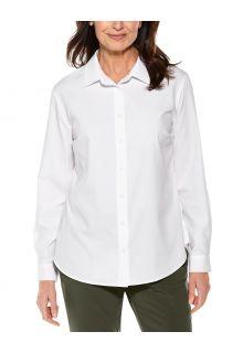 Coolibar---UV-Schutz-Bluse-für-Damen---Hepburn---Weiß