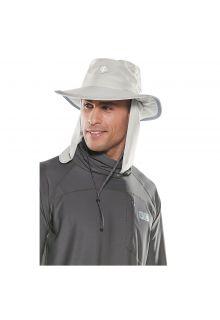 Coolibar---UV-Hut-mit-versteckbarem-Nackenschutz---Hellgrau