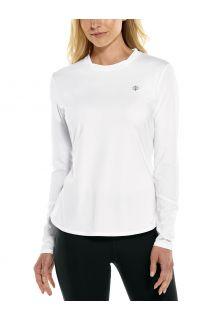 Coolibar---UV-Sportshirt-für-Damen---Langärmlig---Match-Point---Weiß