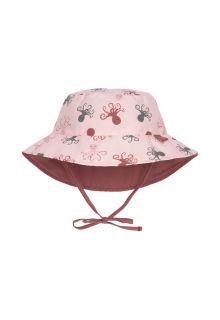 Lässig---Wendbarer-UV-Bucket-Hut-für-Babys---Octopus---Pink