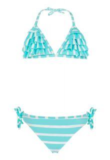 Snapper-Rock---Rüschen-Bikini-Streifen-aqua--weiss