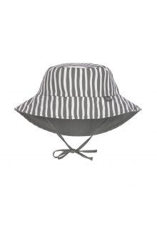Lässig---Wendbarer-UV-Bucket-Hut-für-Babys---Gestreift---Olivgrün