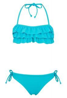 Snapper-Rock---Rüschen--Bandeau-Bikini-aqua