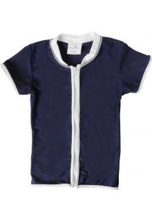 Snapper-Rock---UV-T-Shirt-mit-Reissverschluss-für-Kinder-blau