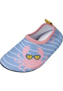 Playshoes---Uv-Barfuß-Schuh-für-Mädchen---Krebs---Hellblau/Rosa