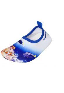 Playshoes---Uv-Barfuß-Schuh-für-Kinder---Unterwasserwelt---Korallenwelt-Blau