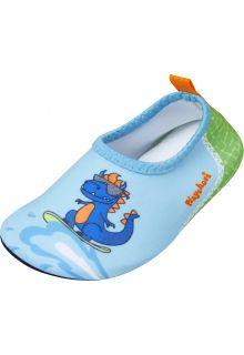 Playshoes---Uv-Barfuß-Schuh-für-Jungen---Dino---Hellblau/Grün