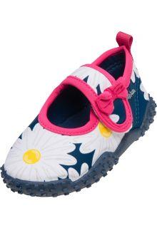 Playshoes---UV-Badeschuhe-für-Mädchen---Margerite---Marineblau