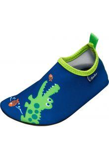 Playshoes---UV-Badeschuhe-für-Kinder---Krokodil--Blau/grün