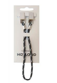 Hatland---Capkeeper-zur-Befestigung-von-Hut-oder-Kappe-an-Jacke-oder-Hemd--Schwarz/Weiß