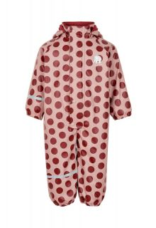 CeLaVi---Regenanzug-mit-Fleece-für-Mädchen---Dots---Rosa