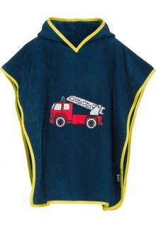 Playshoes---Bade-Poncho-mit-Kapuze---Feuerwehrauto
