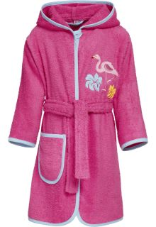 Playshoes---Bademantel-für-Mädchen---Flamingo---Rosa