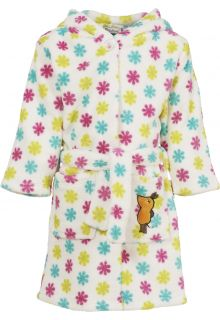 Playshoes---Fleece-Bademantel-mit-Kapuze---'die-Maus'---Blumen