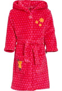 Playshoes---Fleece-Bademantel-mit-Kapuze---Maus-Rosa