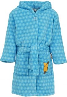 Playshoes---Fleece-Bademantel-mit-Kapuze---'die-Maus'---Blau