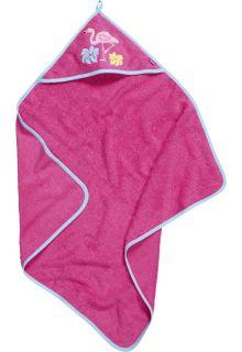 Playshoes---Frottier-Kapuzentuch-für-Babys---Flamingo---Rosa