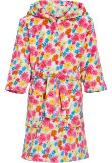 Playshoes---Fleece-Bademantel-mit-Kapuze---Blumen-Gelb