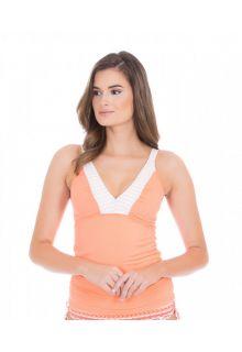 Cabana-Life---UV-Schutz-Tankinitop-für-Damen---Orange/Weiss